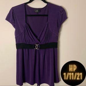 Byer California XL Purple Blouse EUC